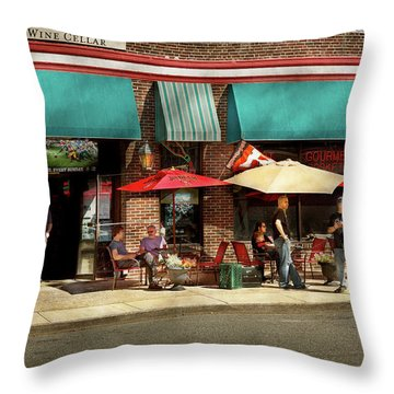Throw Pillow featuring the photograph City - Edison Nj - Pino's Basket Shop by Mike Savad