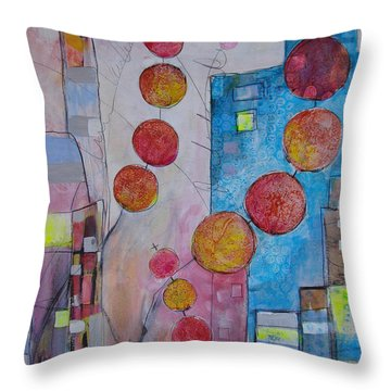 City Festival Throw Pillow