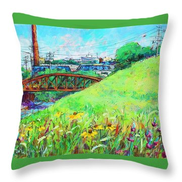 City Fields Throw Pillow