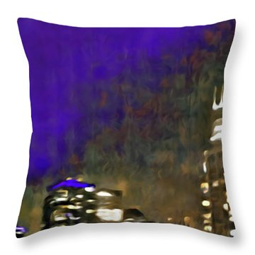 City Flames Throw Pillow