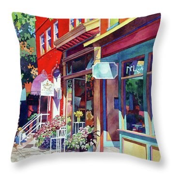 City Flower Throw Pillow