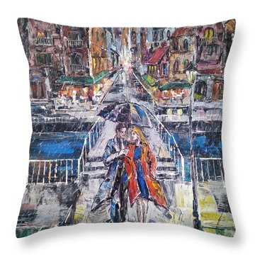 City For Two Throw Pillow