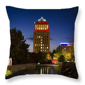 City Garden Throw Pillow