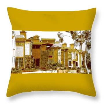 City Gold Throw Pillow by Ben and Raisa Gertsberg
