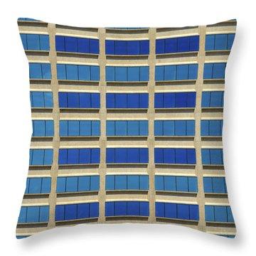 City Grid Throw Pillow