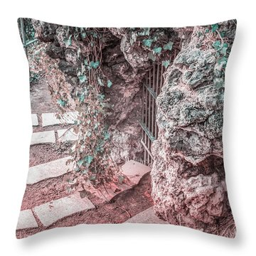 City Grotto Throw Pillow