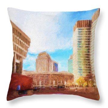 City Hall At Government Center Throw Pillow