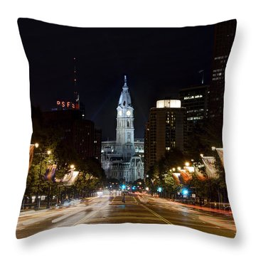 City Hall From The Parkway Throw Pillow