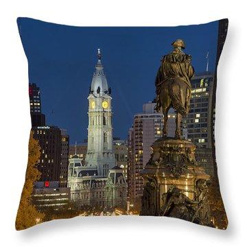 City Hall Philadelphia Throw Pillow by John Greim