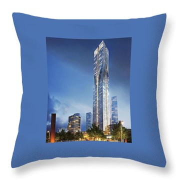 City Heights Throw Pillow