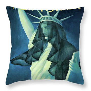 City In Mourning Throw Pillow