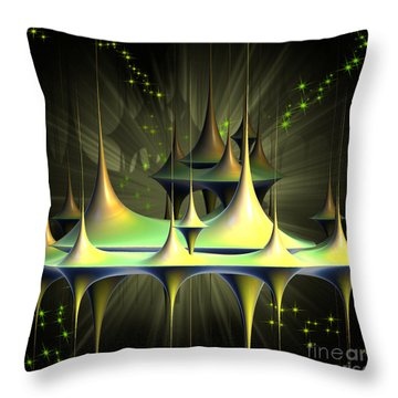 City In The Sky Throw Pillow by Melissa Messick