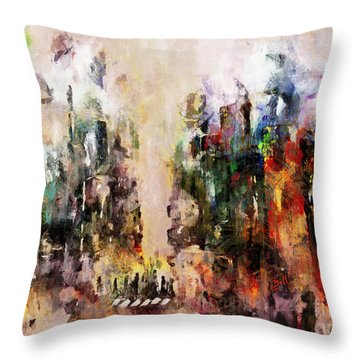 City Life Throw Pillow by Claire Bull
