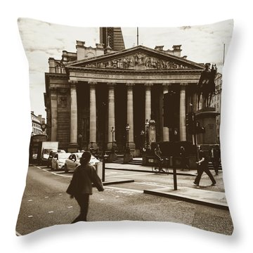 Throw Pillow featuring the photograph City Life On London Streets by Jacek Wojnarowski