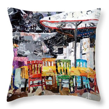 City Life Throw Pillow by Suzy Pal Powell