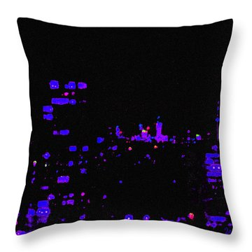 Toronto City Lights Throw Pillow