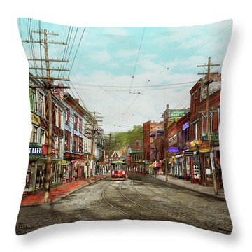 Throw Pillow featuring the photograph City - Ma Glouster - A Little Bit Of Everything 1910 by Mike Savad