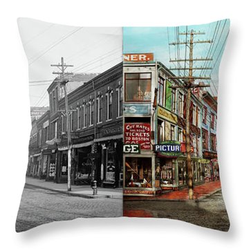 Throw Pillow featuring the photograph City - Ma Glouster - A Little Bit Of Everything 1910 - Side By Side by Mike Savad