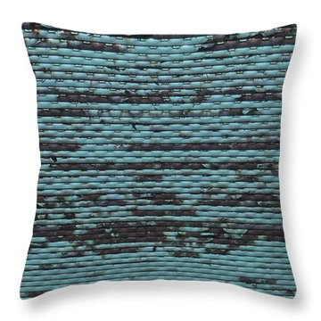 City Metal Grid Throw Pillow by Henri Irizarri