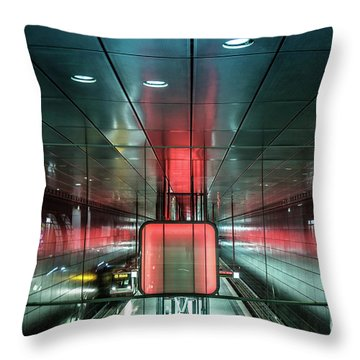 City Metro Station Hamburg Throw Pillow