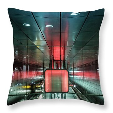 City Metro Station Hamburg Throw Pillow