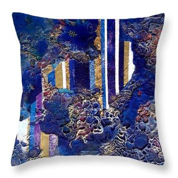 City Mirage Throw Pillow by Lynda Stevens