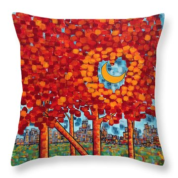 City Moonshine Throw Pillow