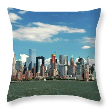 Throw Pillow featuring the photograph City - New York Ny - The New York Skyline by Mike Savad