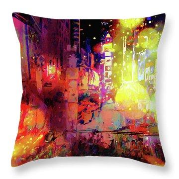 City Nights Throw Pillow