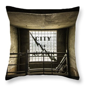 City Of Austin Seaholm Throw Pillow