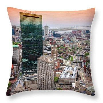 City Of Boston Reflected  Throw Pillow