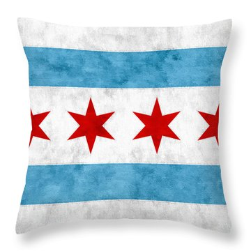 City Of Chicago Flag Throw Pillow