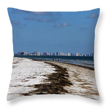 City Of Clearwater Skyline Throw Pillow