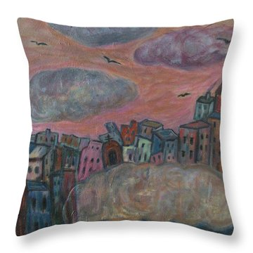 City Of Clouds Throw Pillow