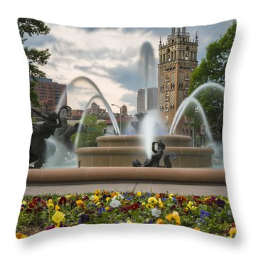City Of Fountains Throw Pillow