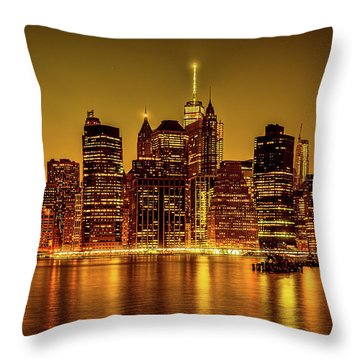 Throw Pillow featuring the photograph City Of Gold by Chris Lord