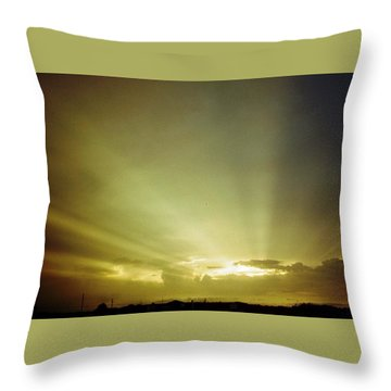City Of Gold In The Sky Throw Pillow