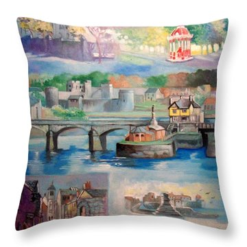 City Of Limerick Ireland Throw Pillow by Paul Weerasekera