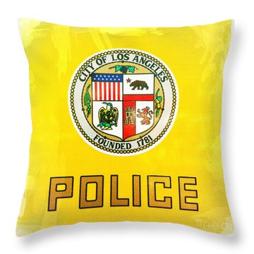 City Of Los Angeles - Police Throw Pillow