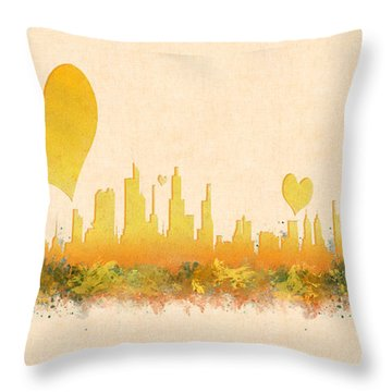 City Of Love Throw Pillow