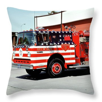 City Of Napa Van Pelt Engine 3 Throw Pillow
