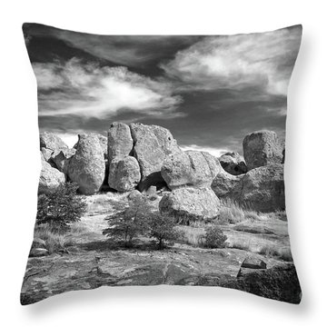 Throw Pillow featuring the photograph City Of Rocks And Sky by Martin Konopacki