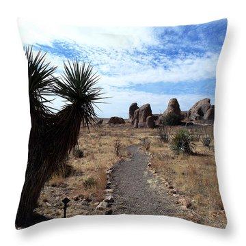 City Of Rocks - New Mexico Throw Pillow
