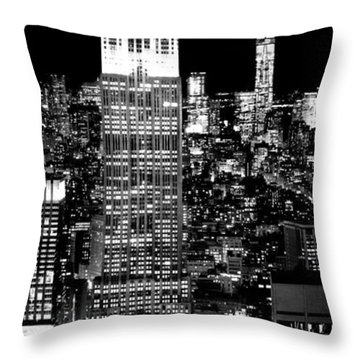 City Of The Night Throw Pillow