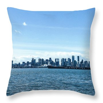City Of Vancouver From The North Shore Throw Pillow