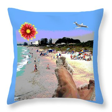 City On The Gluf Throw Pillow by Charles Shoup