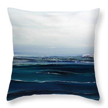 City On The Sea Throw Pillow by Dolores  Deal