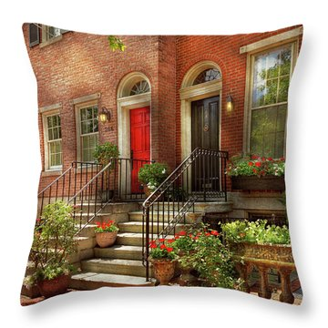 Throw Pillow featuring the photograph City - Pa Philadelphia - Pretty Philadelphia by Mike Savad