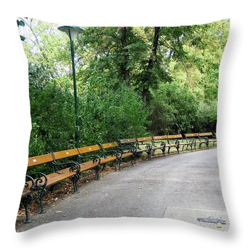 City Park, Vienna Throw Pillow