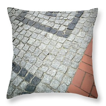 City Pavement Throw Pillow